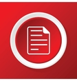 File icon on red vector