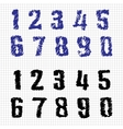 Hand-drawn numbers doodles set 1 sketch vector