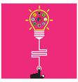 Infographic template creative light bulb vector