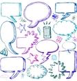 Set of hand drawn comical speech bubbles vector