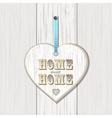 Wooden home sign on white wood vector