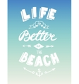 Hand drawn summer quotation vector