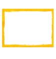 Yellow grunge frame vector