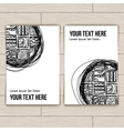 Set of business cards with patterns vector