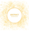 Orange abstract circle frame vector