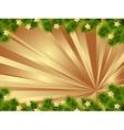 Gold christmas card vector