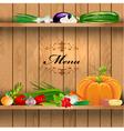 Vegetables shelf menu vector
