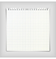 Note paper sheet with squares vector