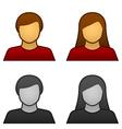Male female avatar icons vector