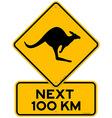 Kangaroos next 100 km vector