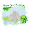 Mayan pyramid chichen-itza mexico - vector