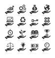 Hand concept icons vector