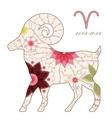 Aries vintage vector
