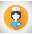 Medical treatment nurse symbol female physician vector