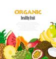 Organic healthy fruit background healthy diet vector