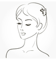Beautiful young woman sketch vector