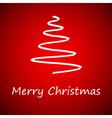 White christmas tree vector