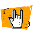 Hand cursor metal music vector