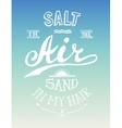 Hand drawn summer motivational poster vector