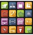 E-commerce icons set flat vector