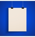 Template of a paper sheet poster mock-up vector