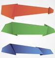Origami speech bubble background vector