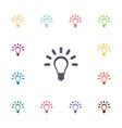 Idea flat icons set vector