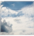 Fly on abstract blurry sky background vector