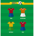 Brazil soccer championship 2014 group b team vector