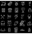 White outline icons for golf vector
