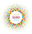 Colorful halftone vector