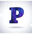 Watercolor letter p vector