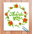 Hand drawn thank you card typography and vector