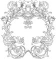 Royal ornate frame vector