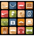 Hipster icons flat vector