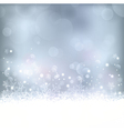Blue christmas winter background vector