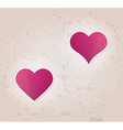 Two hearts vector
