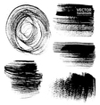 Abstract black brush strokes on white background vector