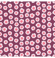 Ditsy floral pattern with small pink flowers vector