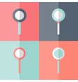 Flat loupe icons set vector