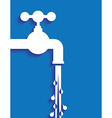 Tap water and pipes vector