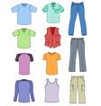 Man clothes vector