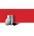 Red paint pot banner vector