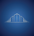 Architect logo over blue vector