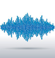 Sound waveform made of chaotic balls vector