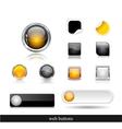 Set of dark web buttons vector