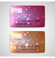 Set of shiny gift cards vector
