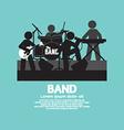 Band of musician black symbol vector