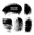Abstract black brush strokes vector