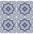 Arabesque seamless pattern in blue and grey vector